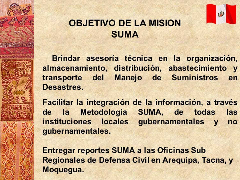 OBJETIVO DE LA MISION SUMA