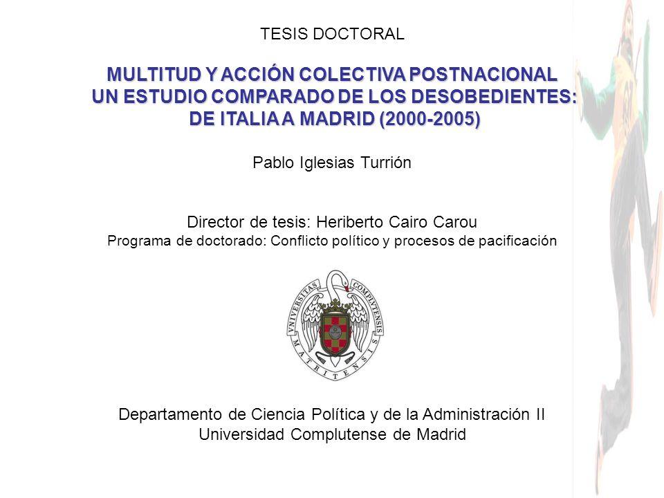 MULTITUD Y ACCIÓN COLECTIVA POSTNACIONAL