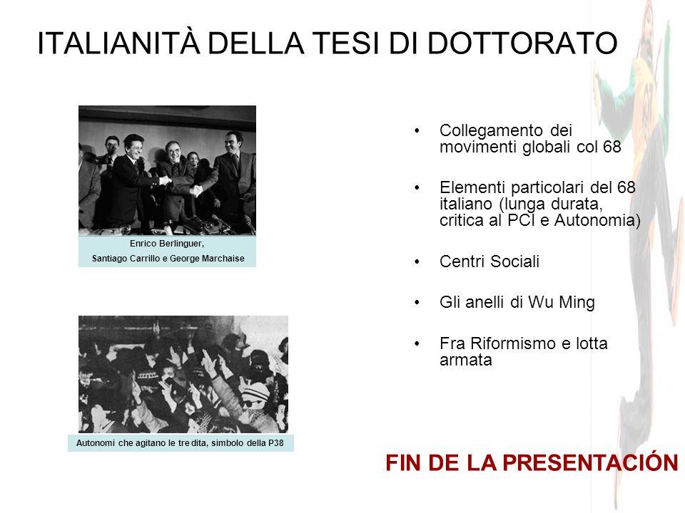 ITALIANITÀ DELLA TESI DI DOTTORATO