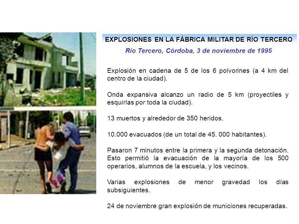 EXPLOSIONES EN LA FÁBRICA MILITAR DE RÍO TERCERO