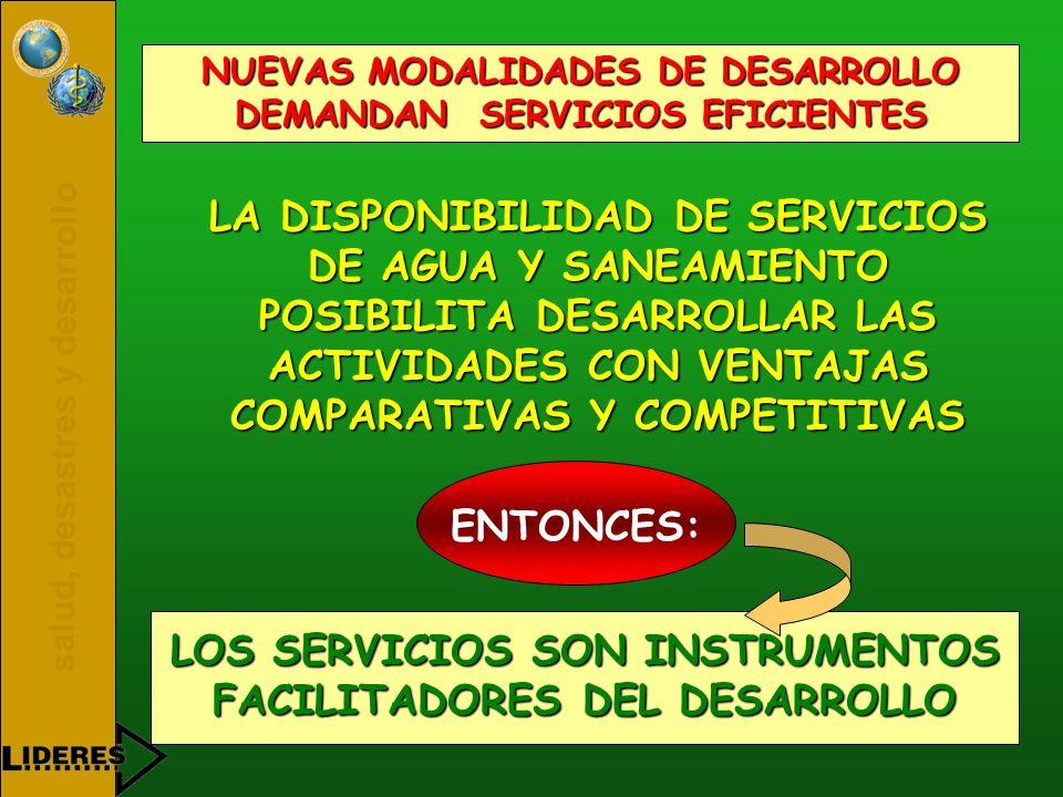 LOS SERVICIOS SON INSTRUMENTOS FACILITADORES DEL DESARROLLO