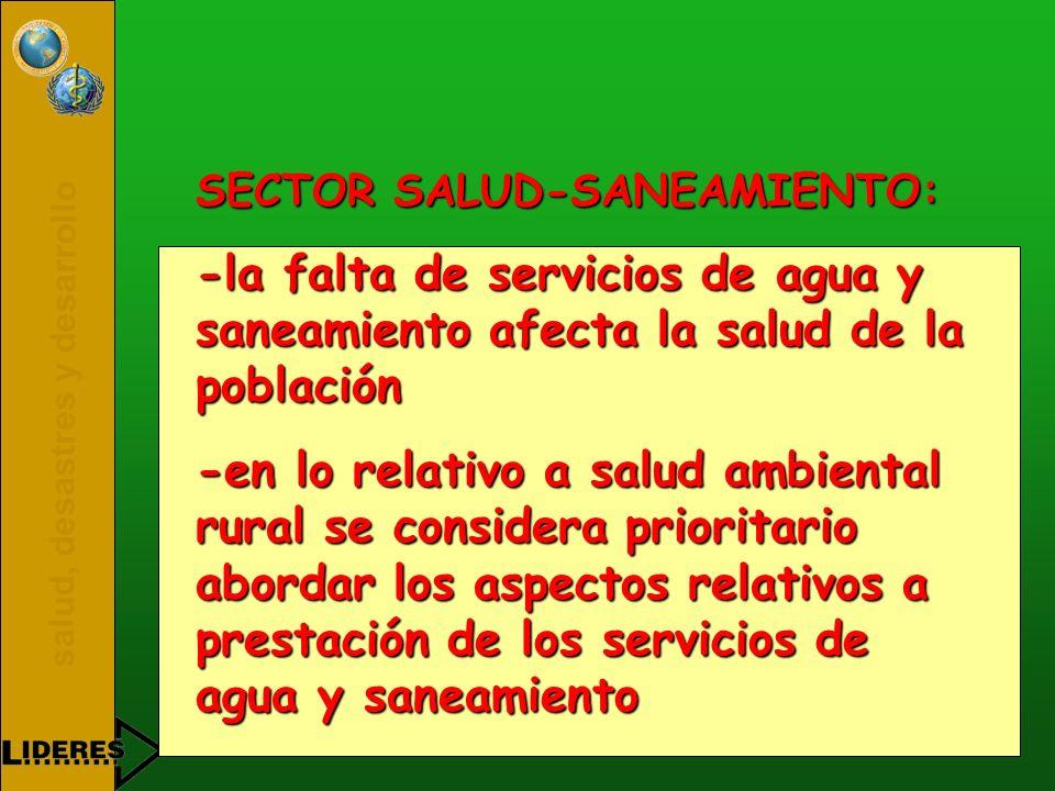 SECTOR SALUD-SANEAMIENTO: