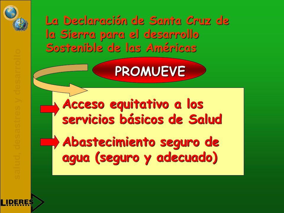 Acceso equitativo a los servicios básicos de Salud