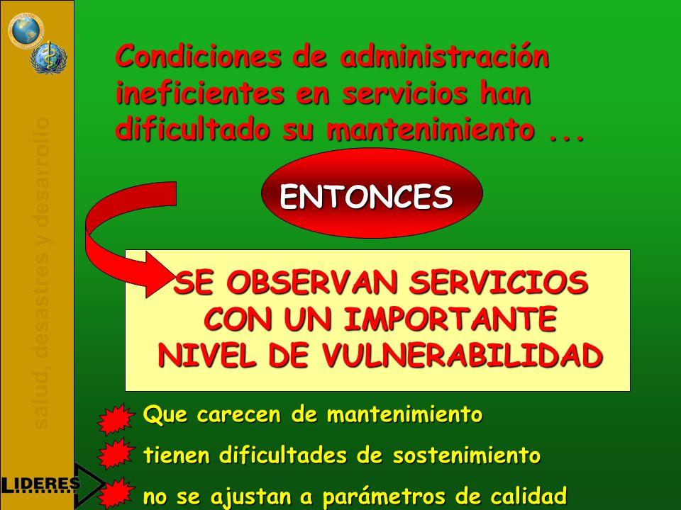 SE OBSERVAN SERVICIOS CON UN IMPORTANTE NIVEL DE VULNERABILIDAD