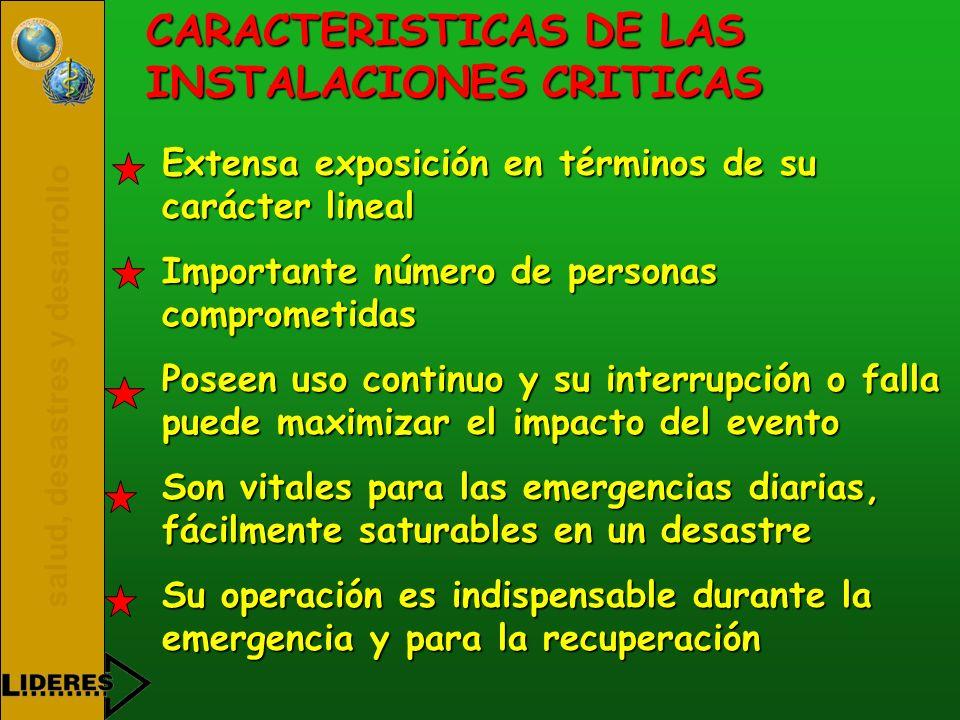 CARACTERISTICAS DE LAS INSTALACIONES CRITICAS