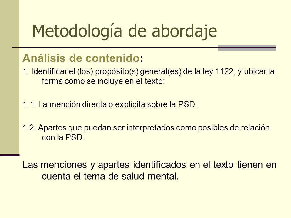 Metodología de abordaje