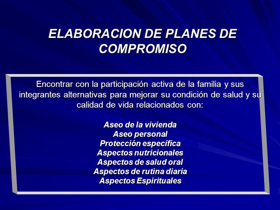 ELABORACION DE PLANES DE COMPROMISO