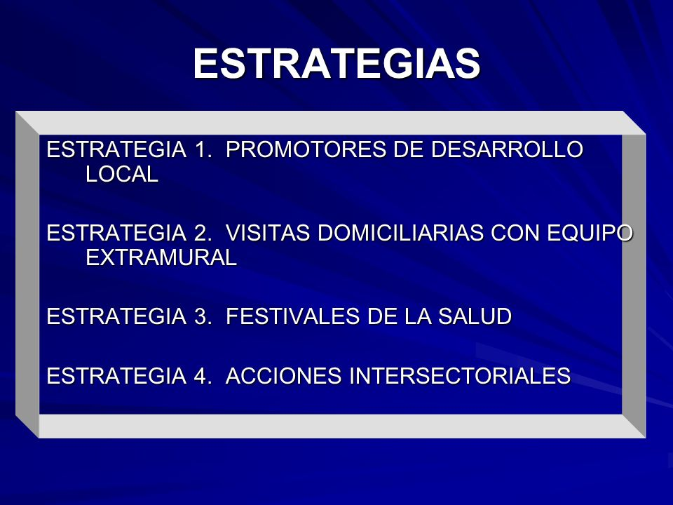 ESTRATEGIAS ESTRATEGIA 1. PROMOTORES DE DESARROLLO LOCAL