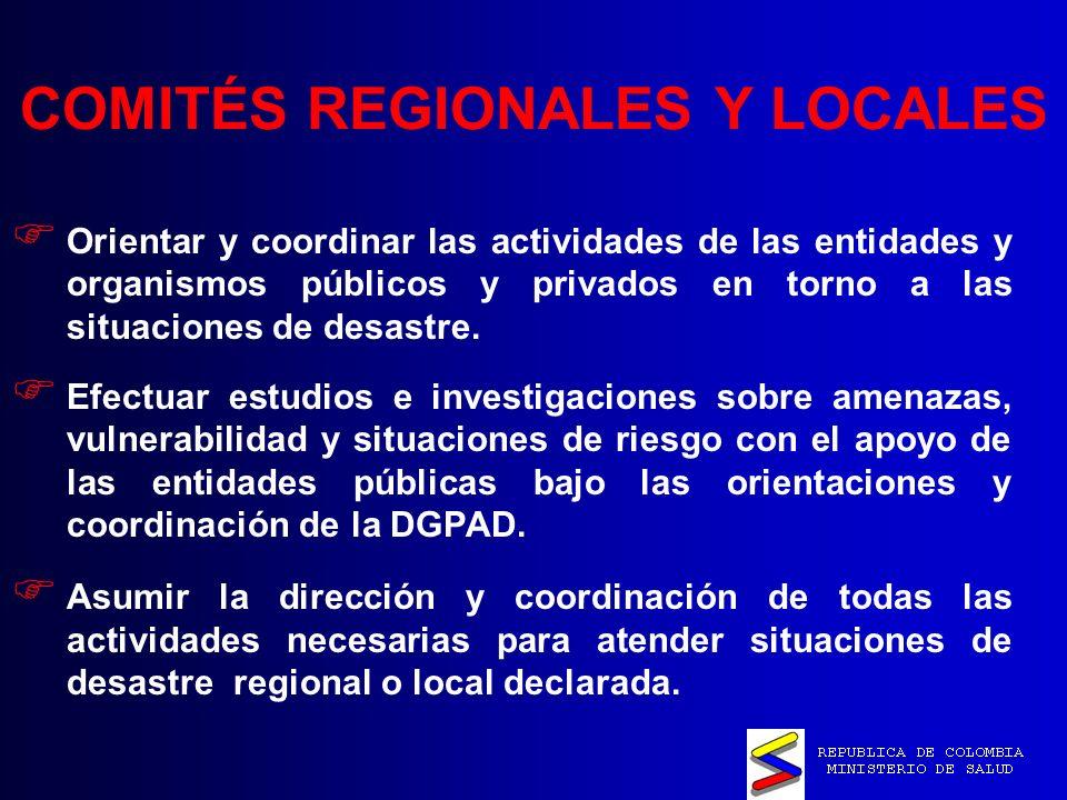 COMITÉS REGIONALES Y LOCALES
