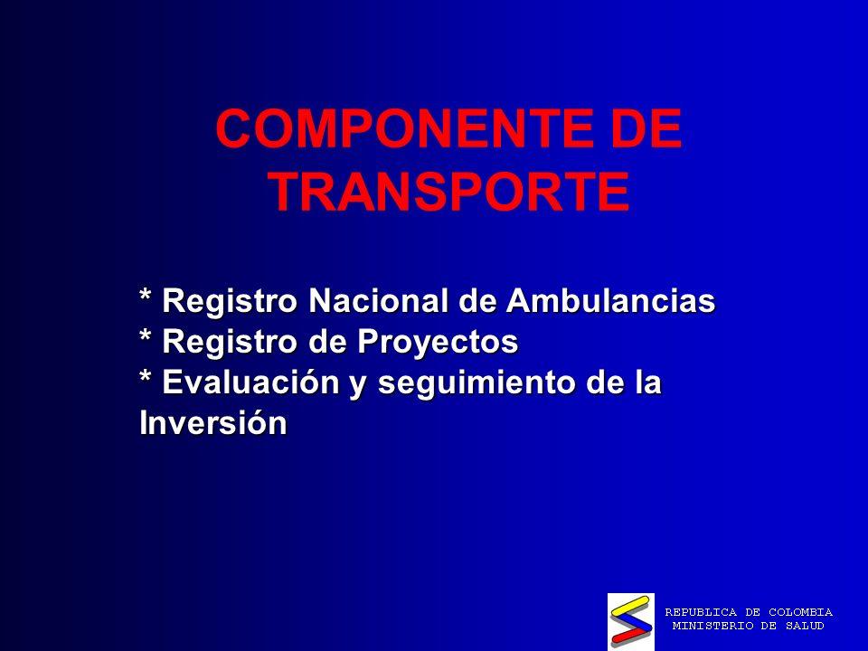 COMPONENTE DE TRANSPORTE