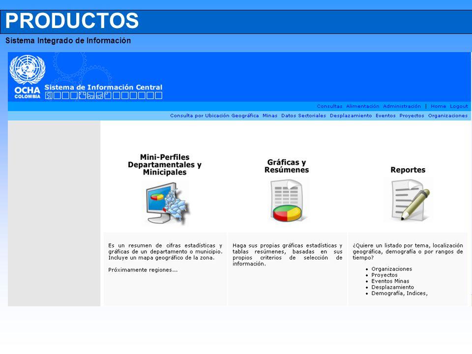 PRODUCTOS Sistema Integrado de Información