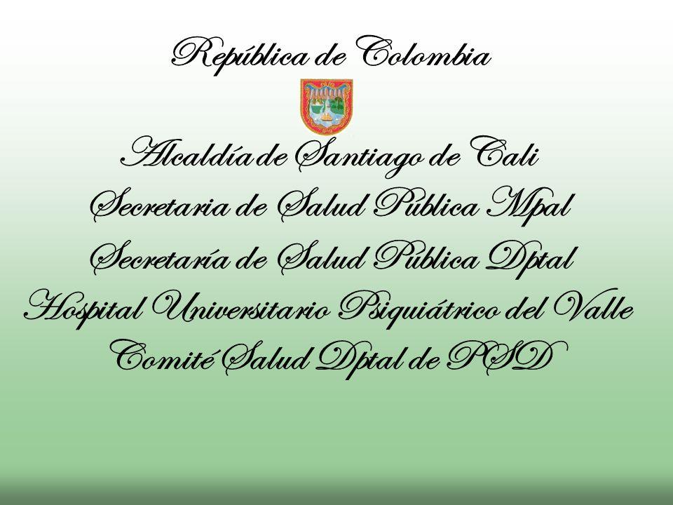 Alcaldía de Santiago de Cali Secretaria de Salud Pública Mpal