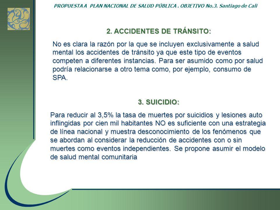 2. ACCIDENTES DE TRÁNSITO: