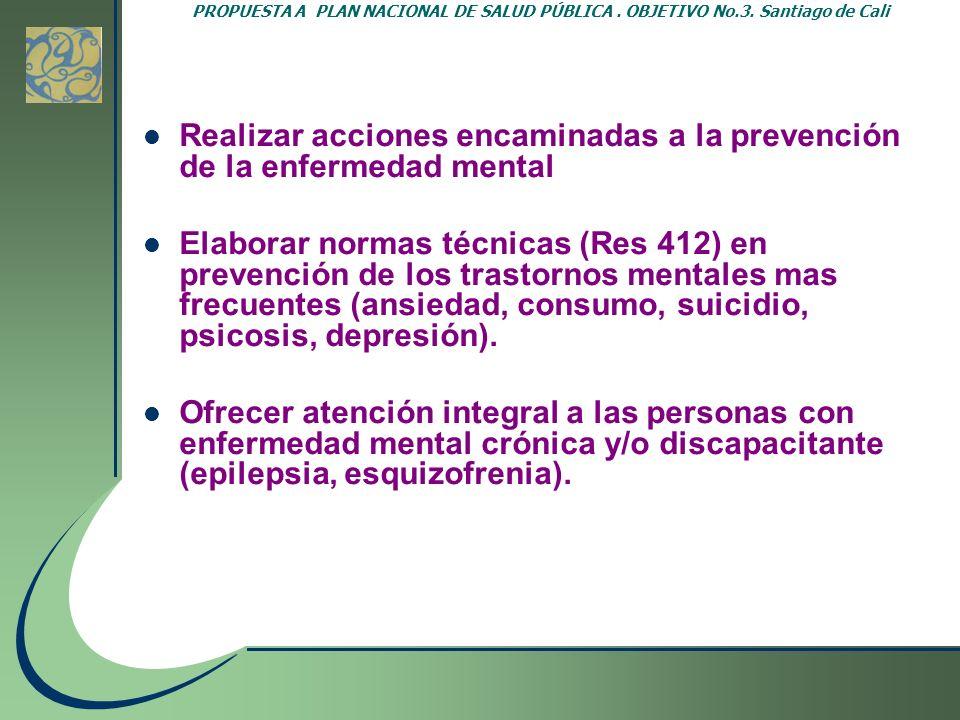 Realizar acciones encaminadas a la prevención de la enfermedad mental