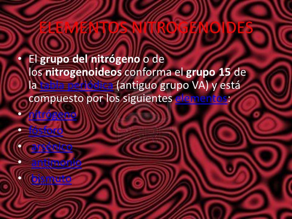 Simbolos atomicos los smbolos qumicos son los distintos signos 11 elementos nitrogenoides el grupo del nitrgeno urtaz Gallery