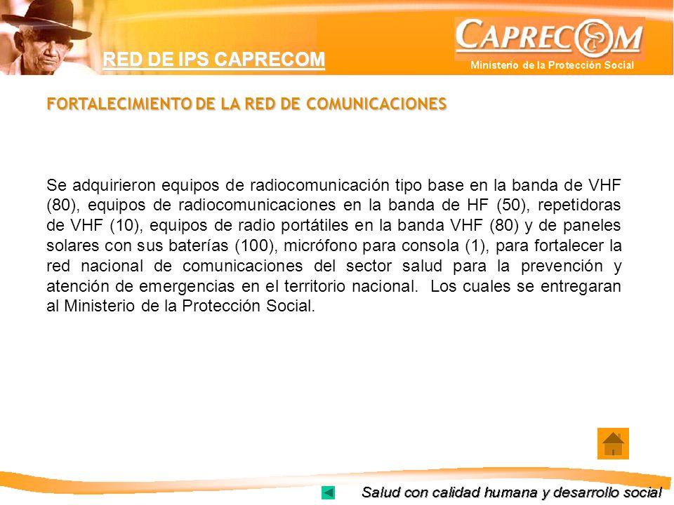 RED DE IPS CAPRECOM FORTALECIMIENTO DE LA RED DE COMUNICACIONES