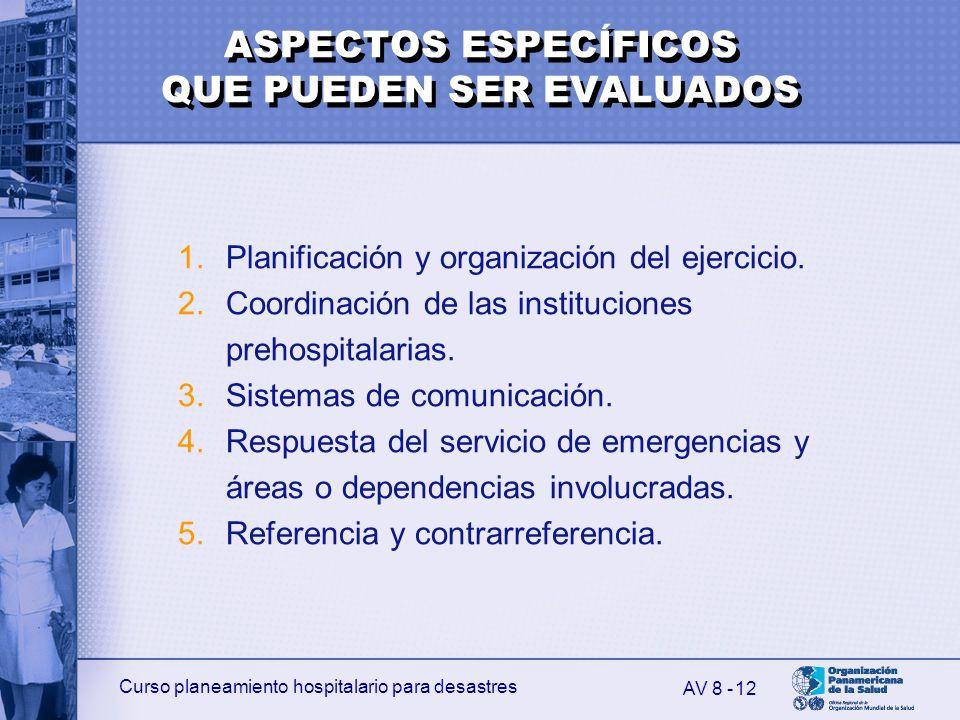 ASPECTOS ESPECÍFICOS QUE PUEDEN SER EVALUADOS