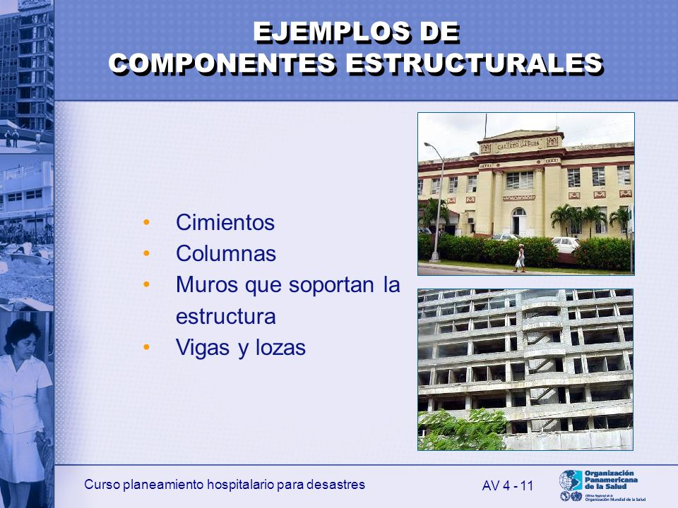 EJEMPLOS DE COMPONENTES ESTRUCTURALES