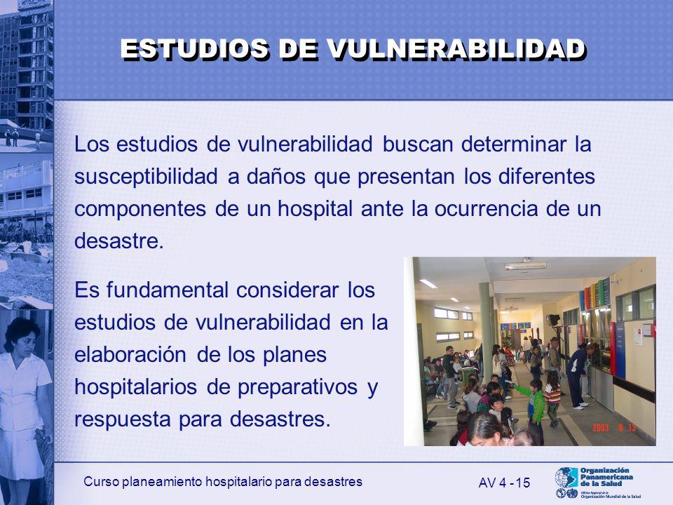 ESTUDIOS DE VULNERABILIDAD