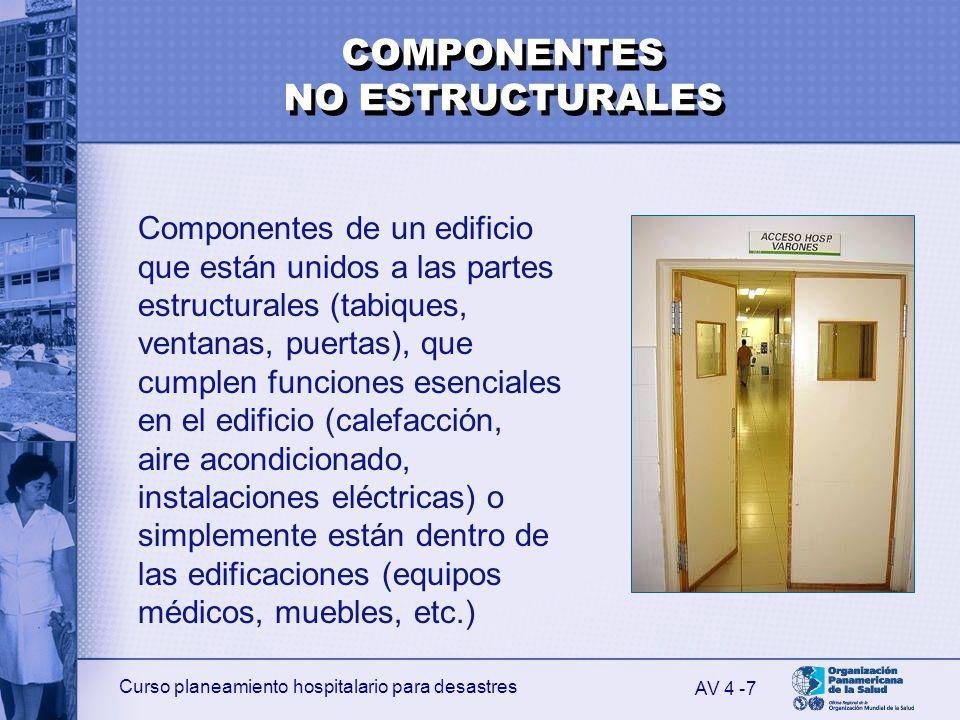 COMPONENTES NO ESTRUCTURALES