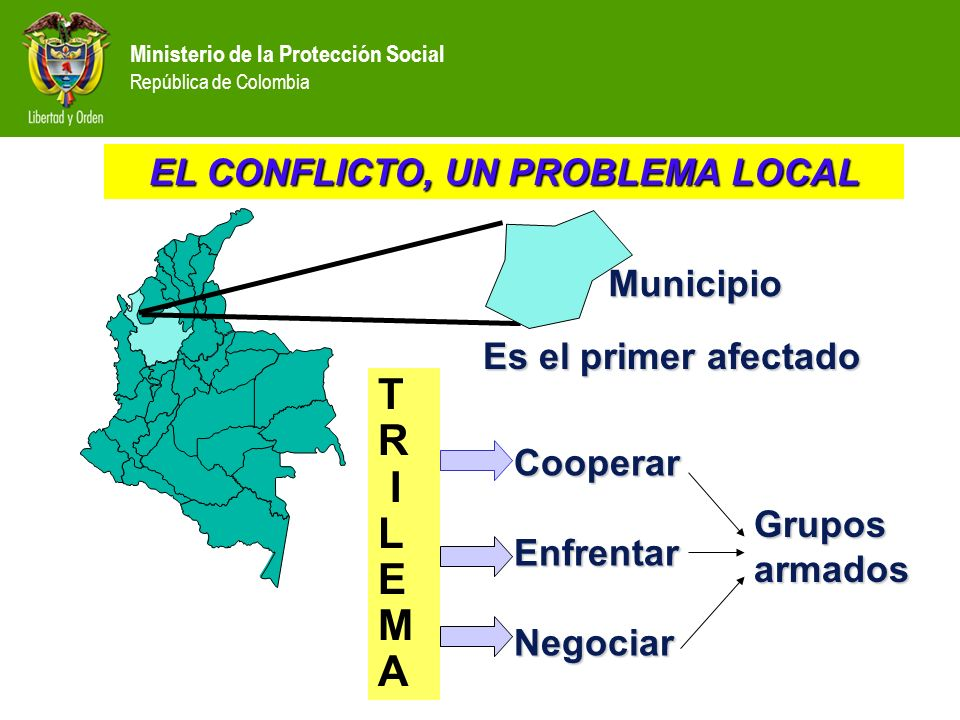 EL CONFLICTO, UN PROBLEMA LOCAL