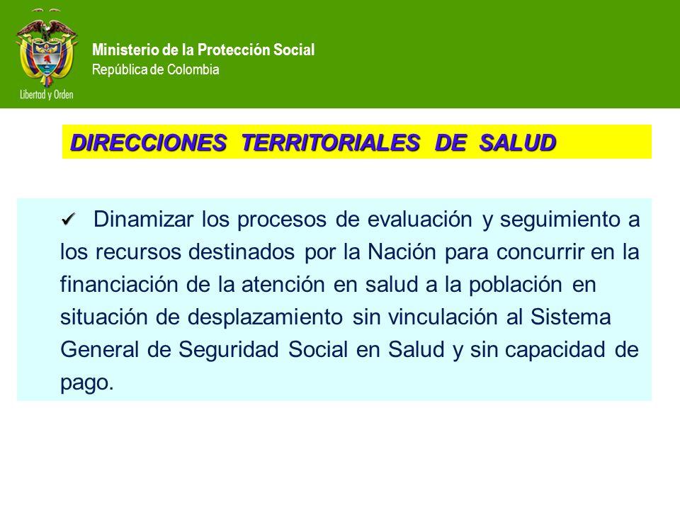 DIRECCIONES TERRITORIALES DE SALUD