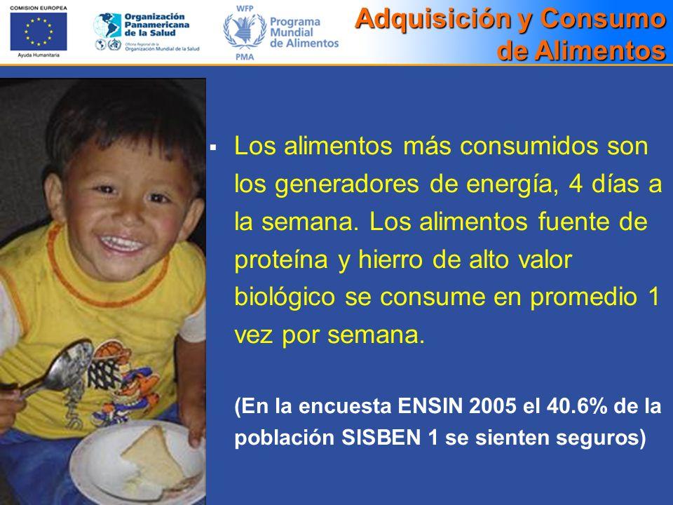 Adquisición y Consumo de Alimentos