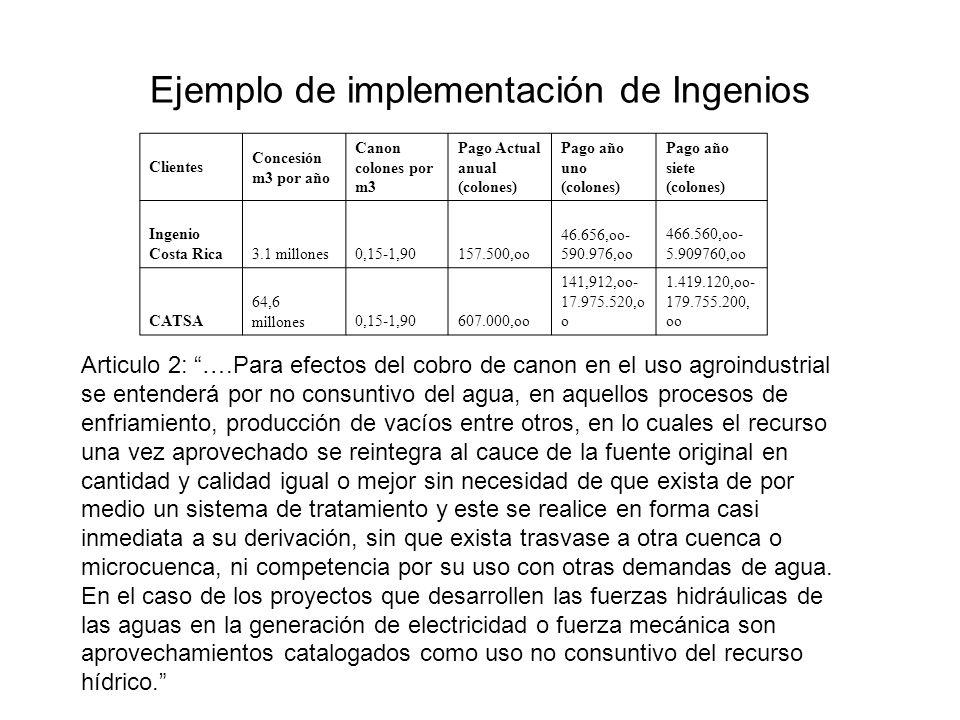 Ejemplo de implementación de Ingenios