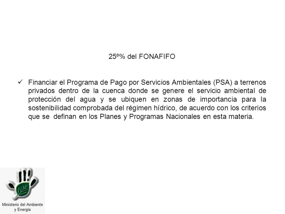 25º% del FONAFIFO