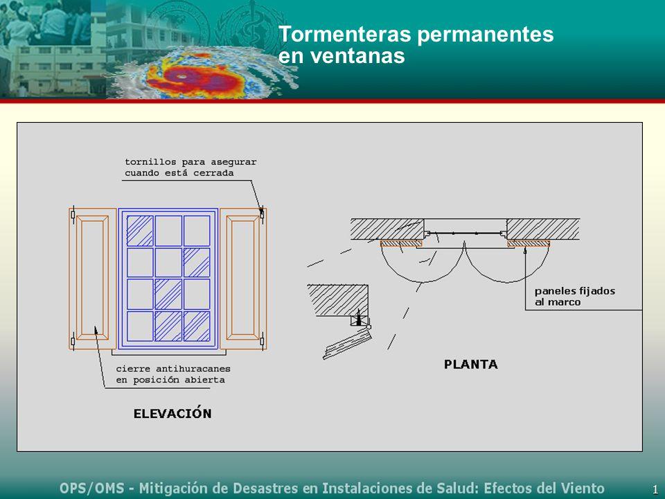 Tormenteras permanentes en ventanas