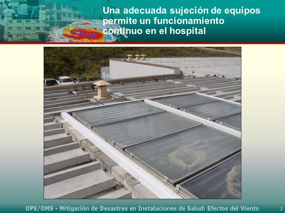 Una adecuada sujeción de equipos permite un funcionamiento continuo en el hospital
