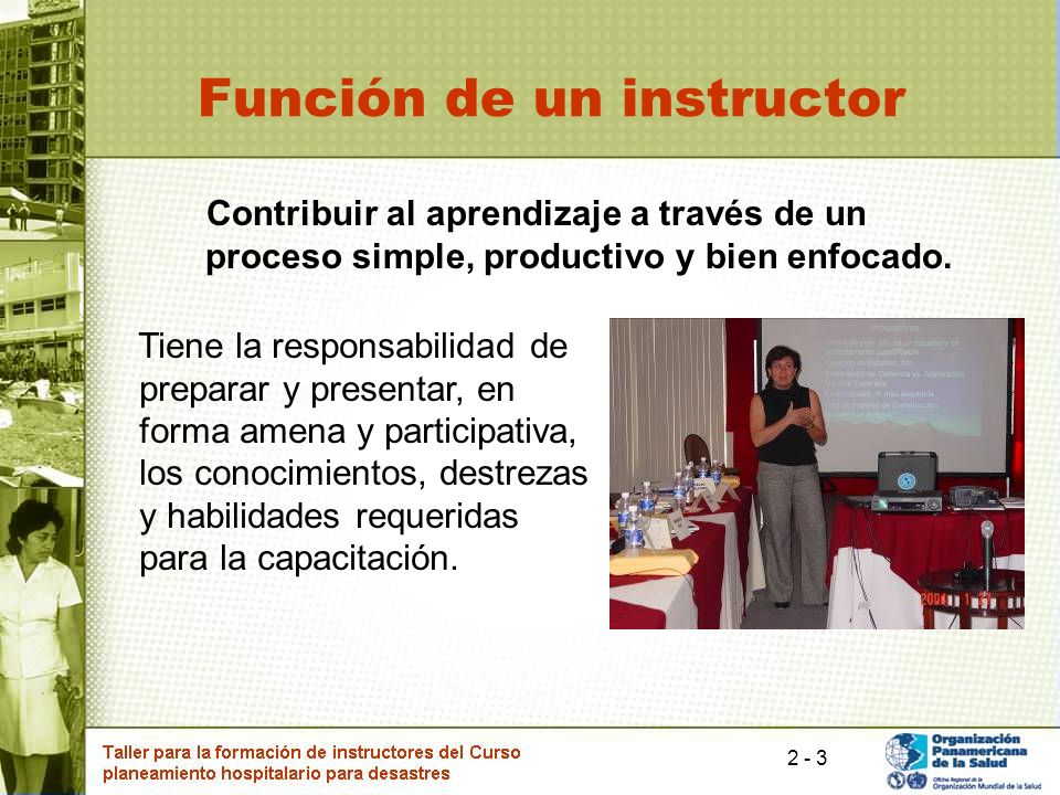 Función de un instructor