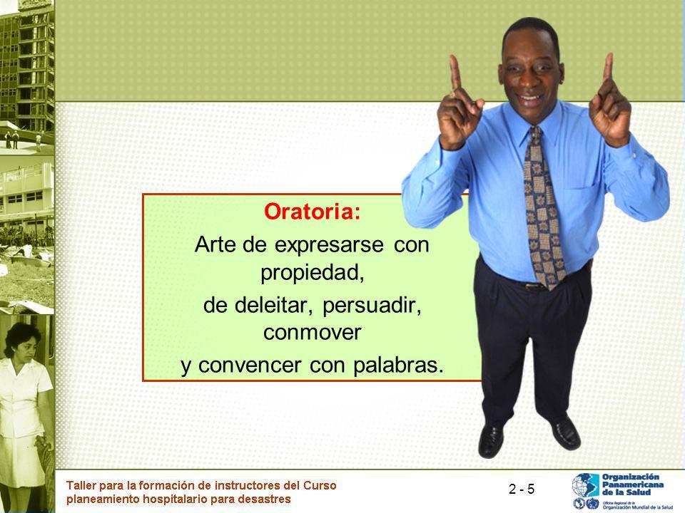 Arte de expresarse con propiedad, de deleitar, persuadir, conmover