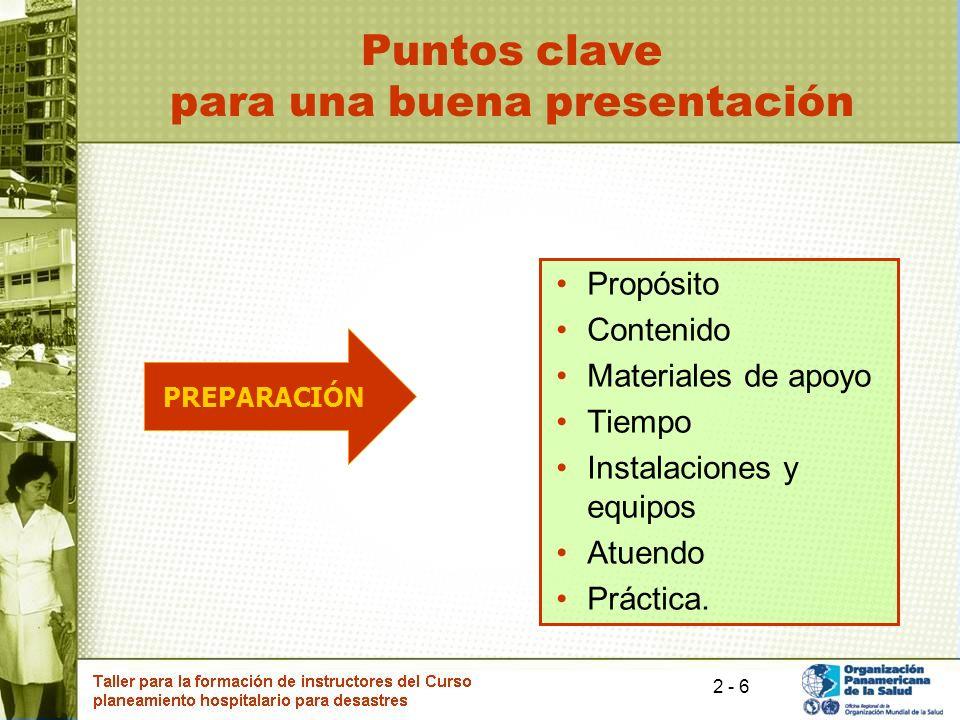 Puntos clave para una buena presentación