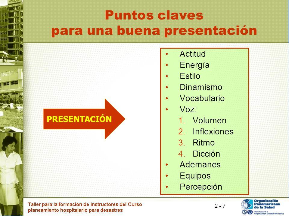 Puntos claves para una buena presentación