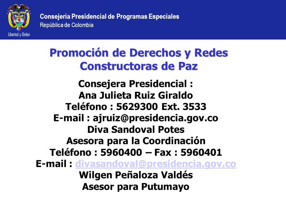 Promoción de Derechos y Redes Constructoras de Paz