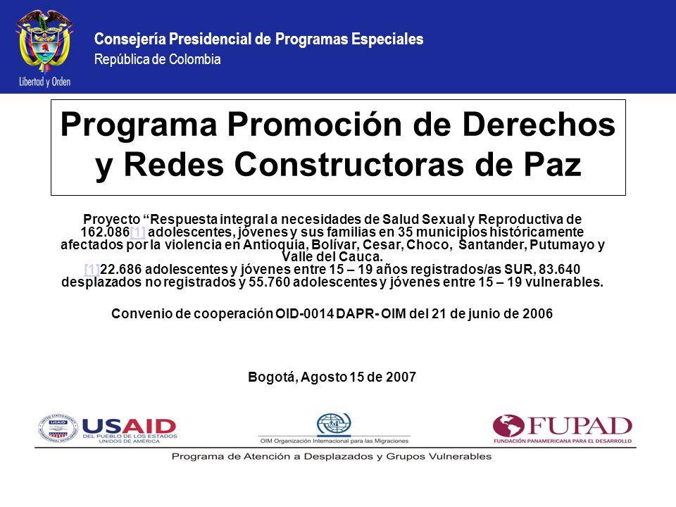 Programa Promoción de Derechos y Redes Constructoras de Paz
