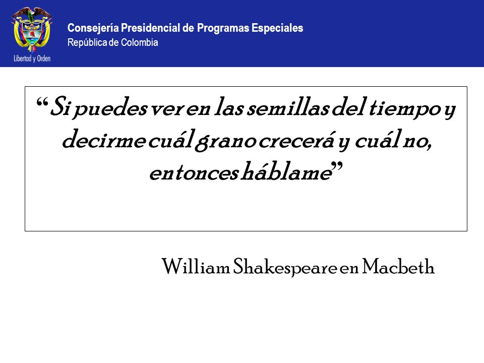 William Shakespeare en Macbeth