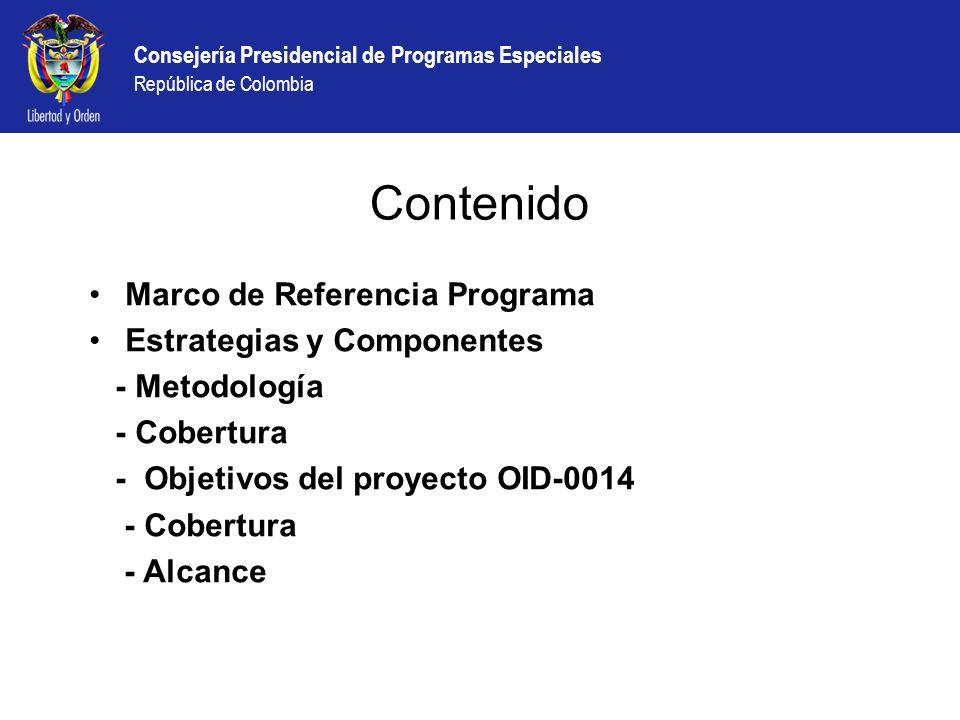 Contenido Marco de Referencia Programa Estrategias y Componentes