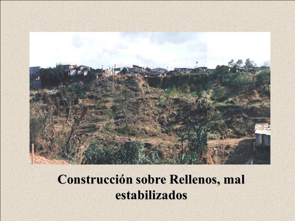 Construcción sobre Rellenos, mal estabilizados