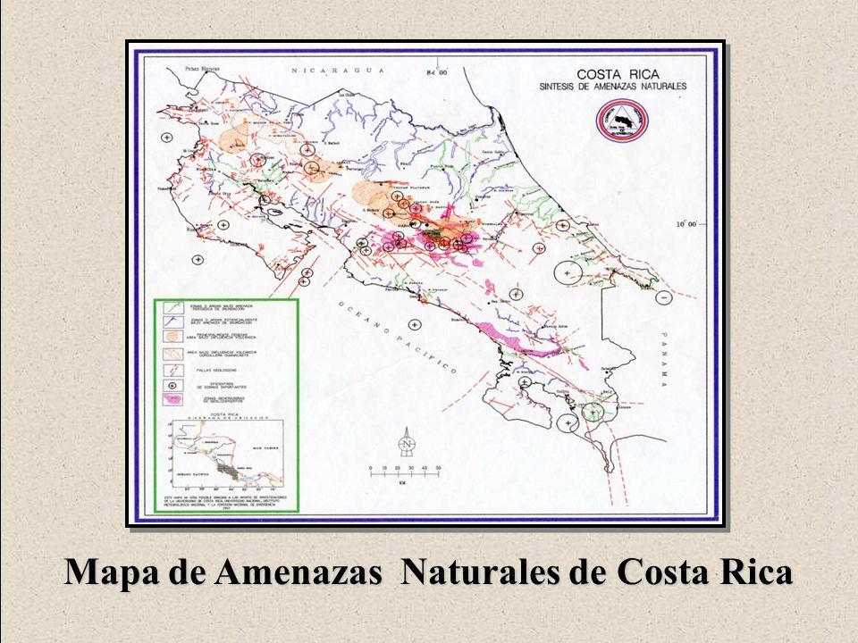 Mapa de Amenazas Naturales de Costa Rica
