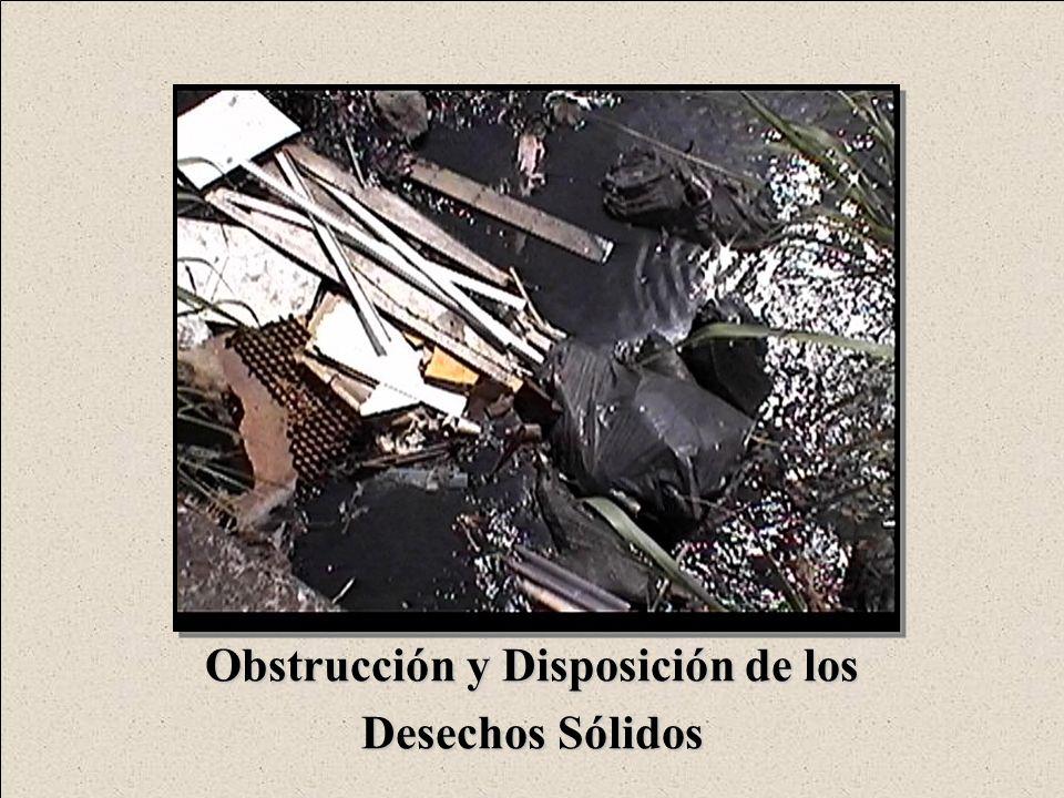 Obstrucción y Disposición de los