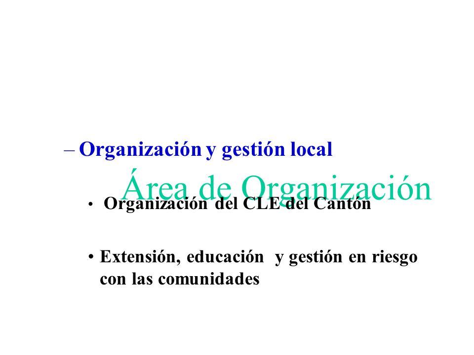 Área de Organización Organización y gestión local