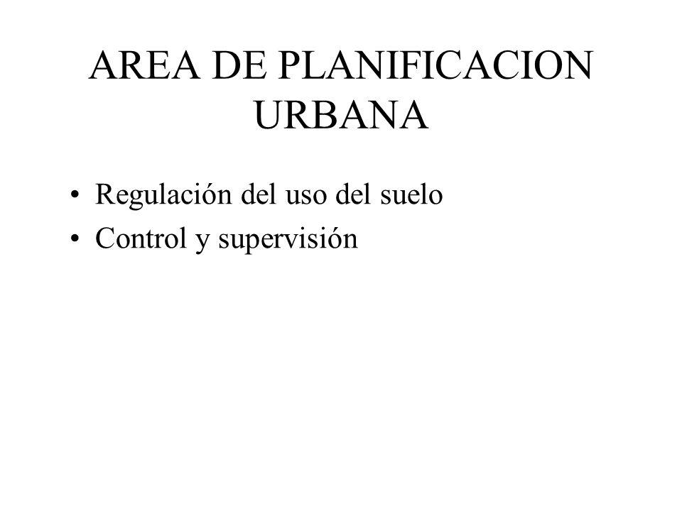 AREA DE PLANIFICACION URBANA