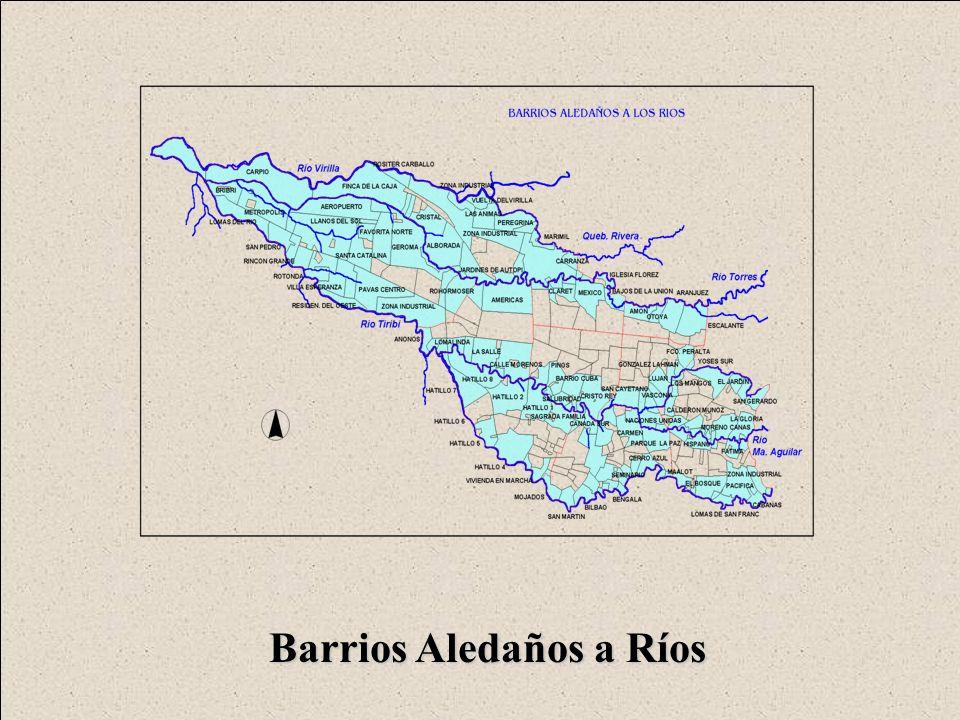 Barrios Aledaños a Ríos