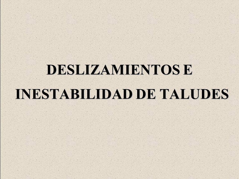 DESLIZAMIENTOS E INESTABILIDAD DE TALUDES