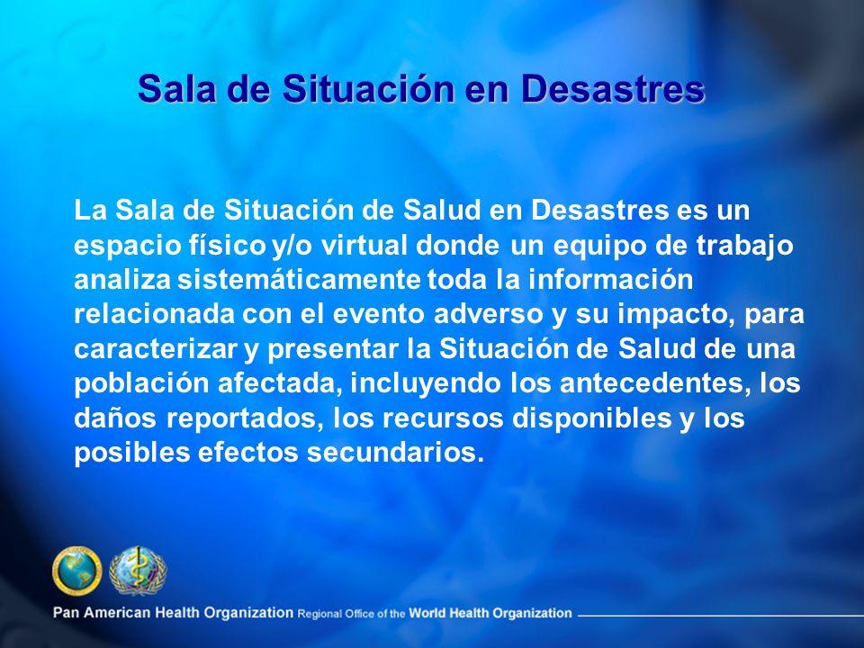 Sala de Situación en Desastres