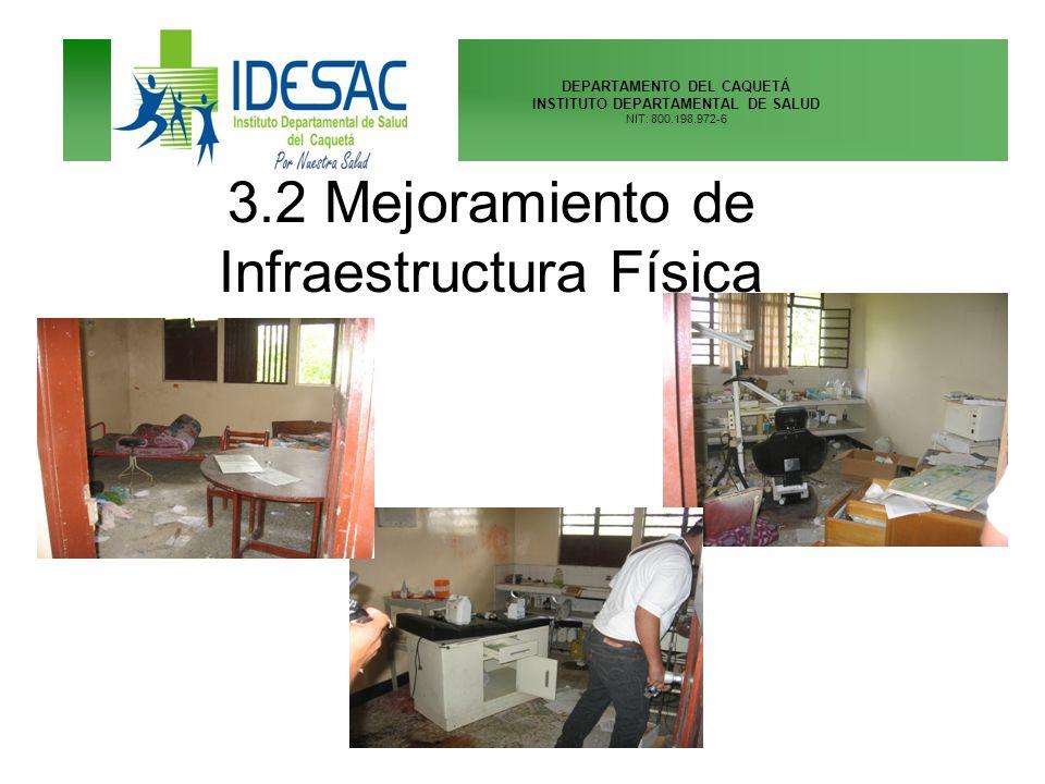 3.2 Mejoramiento de Infraestructura Física