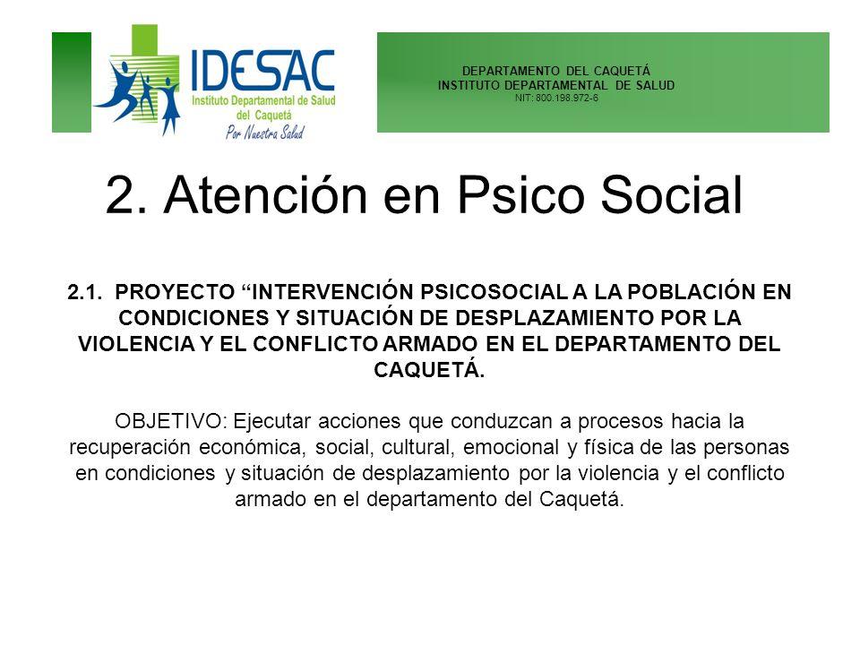 2. Atención en Psico Social