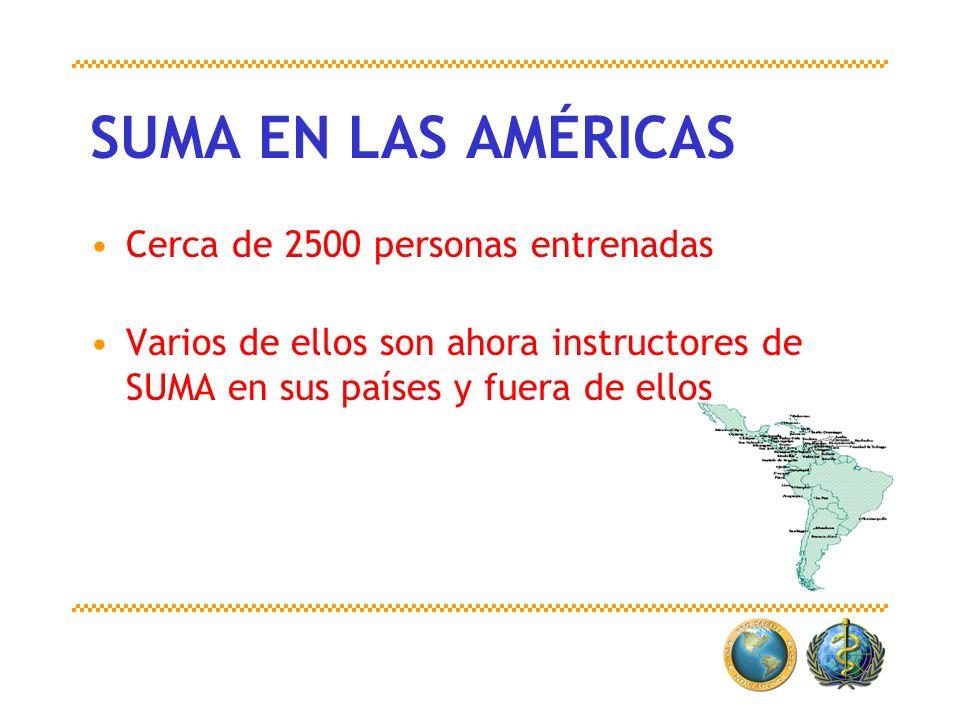 SUMA EN LAS AMÉRICAS Cerca de 2500 personas entrenadas